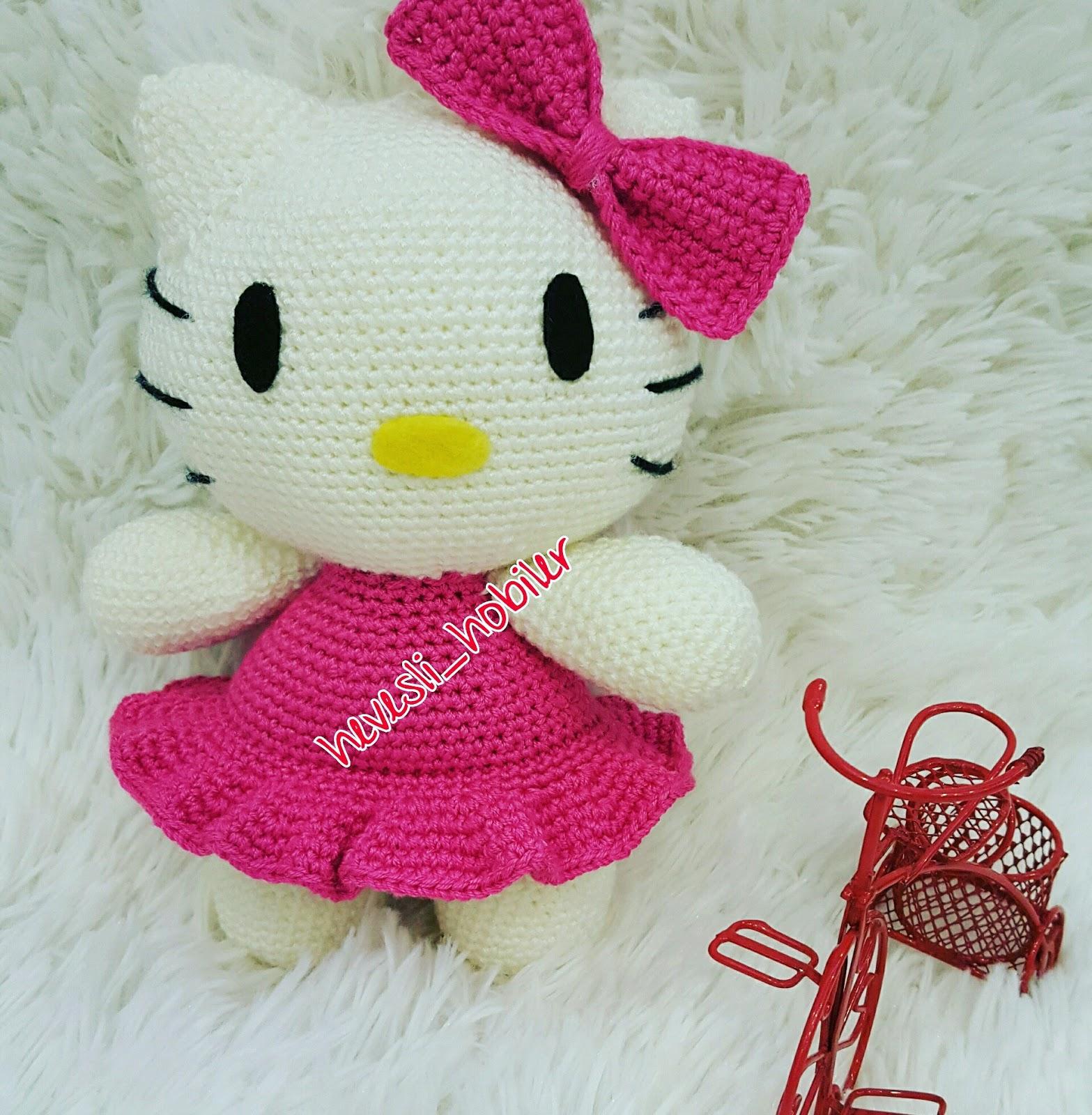 Master class on knitting amigurumi Hello Kitty | 1600x1567
