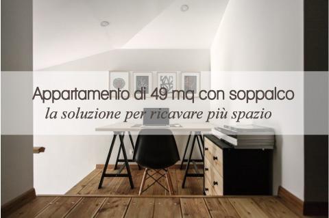 Appartamento di 49 mq con soppalco blog di arredamento e for Case piccole con soppalco