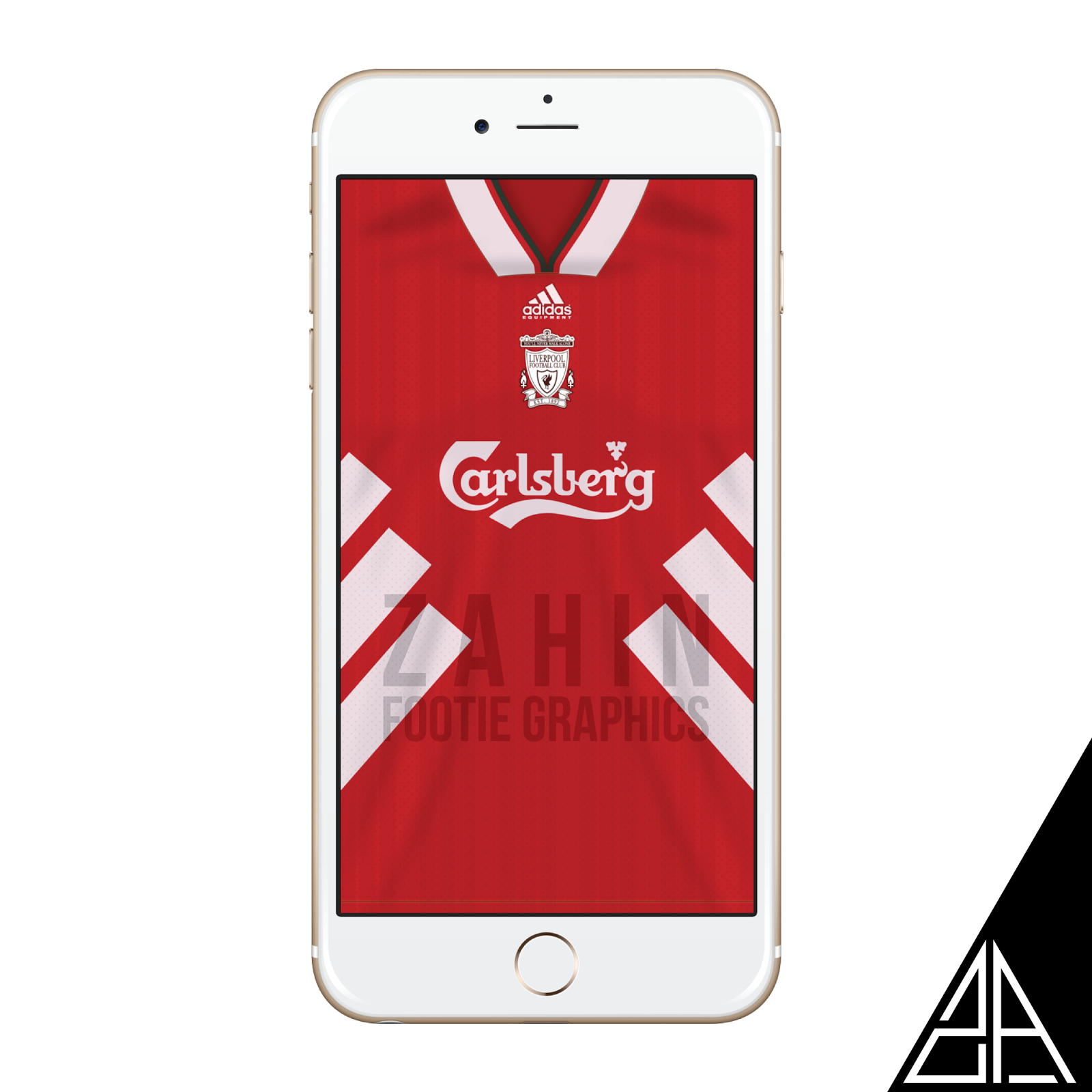 e5cc15a4e Liverpool home kit 1993 95 wallpaper for your iPhone   Android.