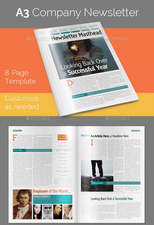 80. 8-Page A3 Company Newsletter