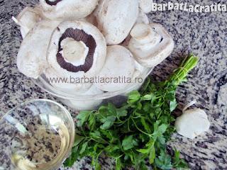 Ciuperci la cuptor cu usturoi ingrediente reteta