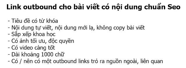 link outbound cho bài viết có nội dung chuẩn seo