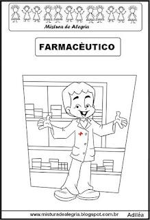 Desenho de farmacêutico para colorir