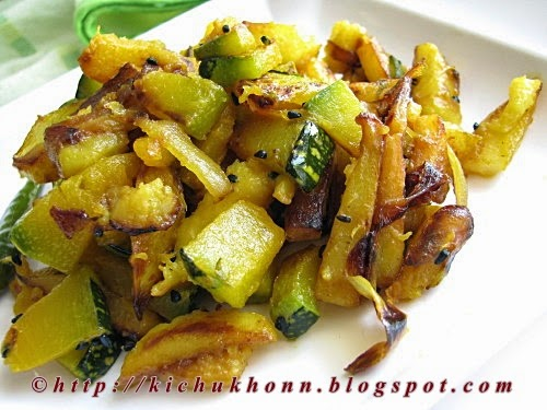 Pumpkin and potato fry