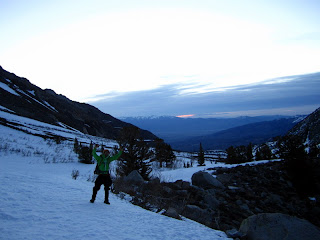 Getting an alpine start. Almost at Horton Lake right before sunrise.