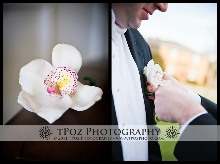 My Flower Box Events boutonnière baltimore wedding
