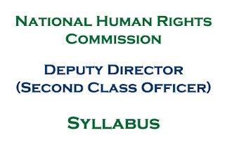 NHRC Syllabus: Deputy Director (Second Class Officer) of National Human Rights Commission Nepal