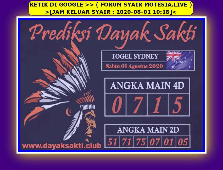 Kode syair Sydney Sabtu 1 Agustus 2020 45