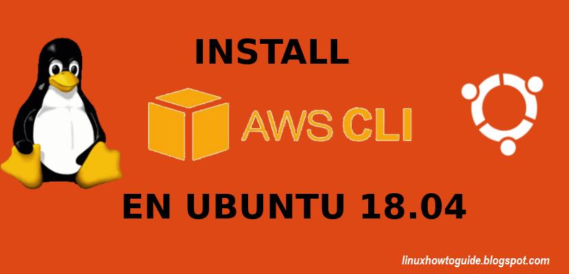 install aws cli
