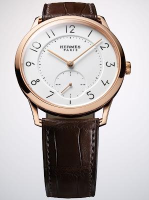 Hermès - Slim d'Hermès Email grand feu watch rose gold version small seconds