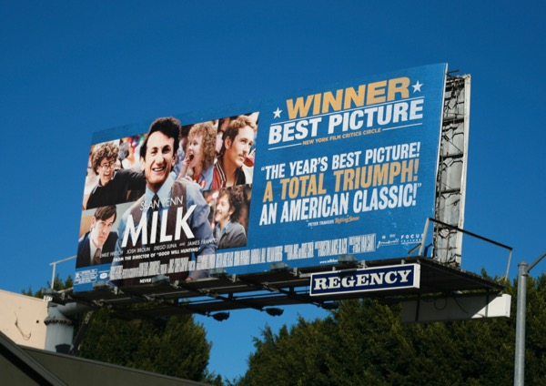Milk movie awards consideration billboard