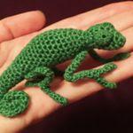 patron gratis camaleon amigurumi | free amigurumi pattern chamaleon