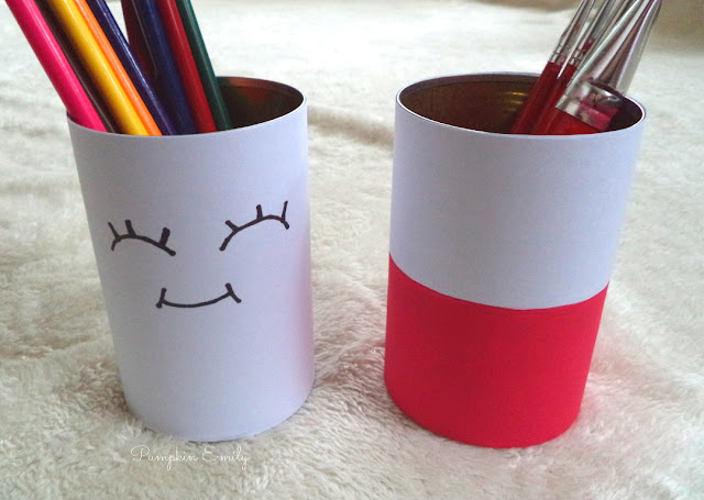 DIY Tin Can Pencil Holders