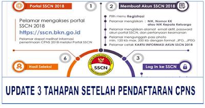 Update 3 Tahap Setelah Pendaftaran CPNS Sscn.bkn.go.id