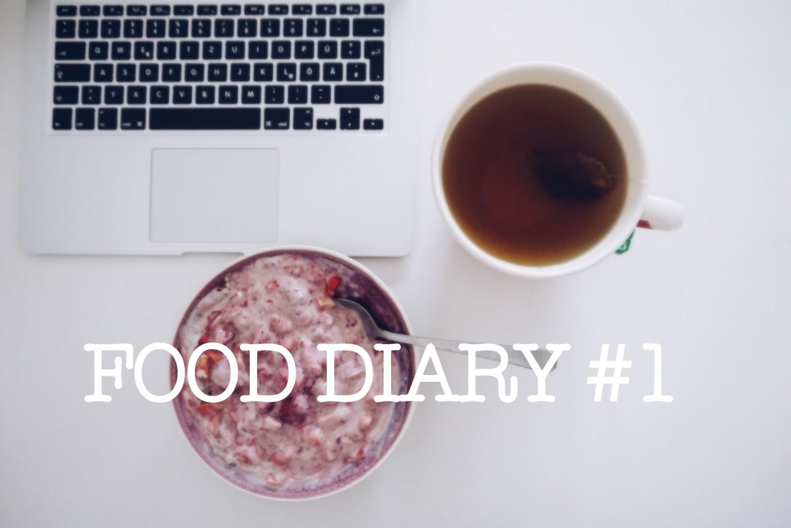 VEGAN FOOD DIARY #1