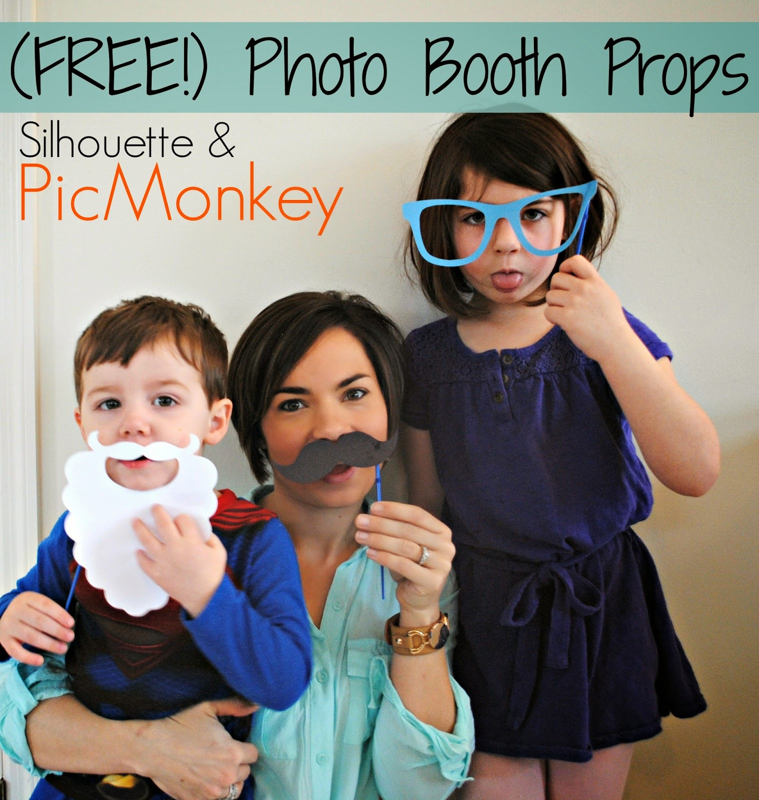 Photobooth props, PicMonkey, Silhouette, DIY, do it yourself, free