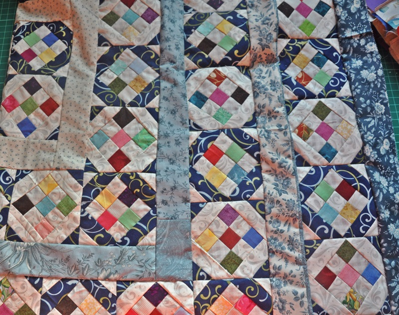 Patchwork quilting unfinished project spider web quilt scrap blocks scrappy