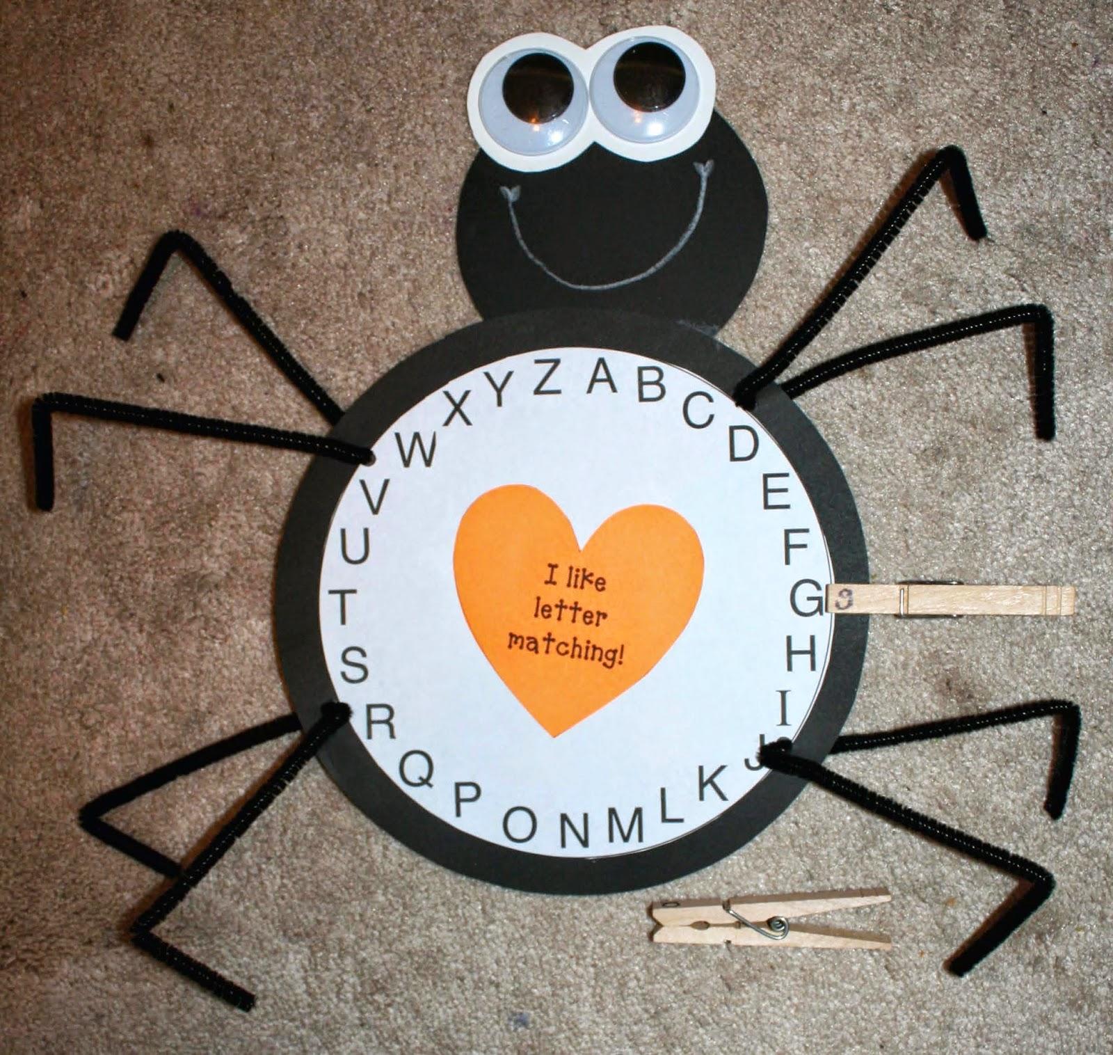 Classroom Freebies Spider Alphabet Activity