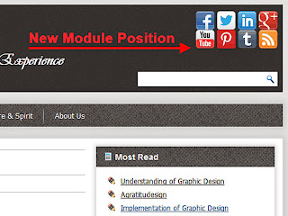 Module Position Social Button on Header Joomla Template