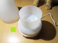 innen: [Aroma Diffuser] E-PRANCE® 100ml Ultraschall Luftbefeuchter Duftzerstäuber mit LED Farbwechsel, sicher und leise, Höhe 14cm