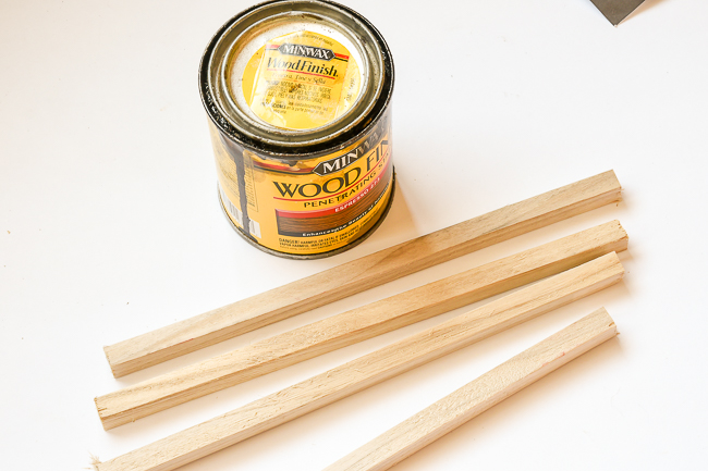 stain supplies for staining wood dowels