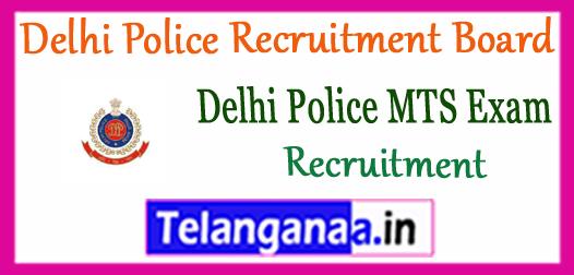 Delhi Police Multi Tasking Staff  Recruitment Notification 2017 Apply Online