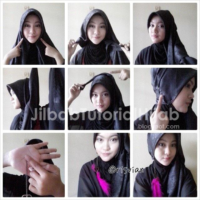tutorial hijab segi empat simple 2016 acara kondangan formal dan kerja terbaru