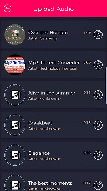Mp3 To Text Converter Android App