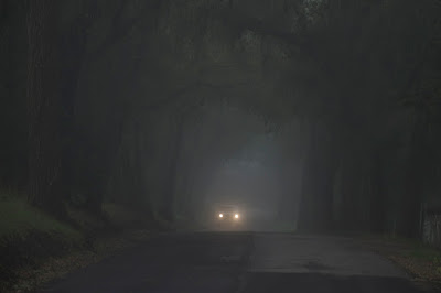 Dark road at night picture