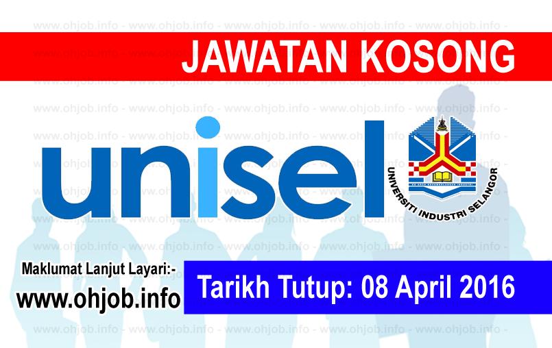 Jawatan Kerja Kosong Universiti Selangor (UNISEL) logo www.ohjob.info april 2016