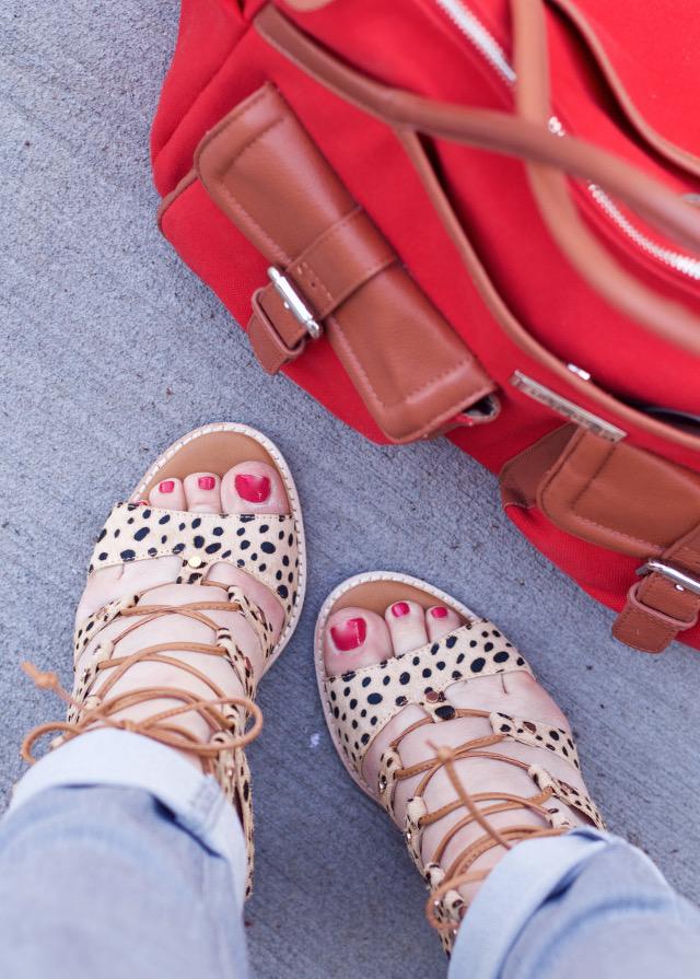 Comfortable leopard spring heels