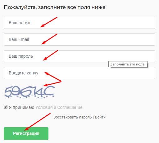 Регистрация в Fitch Capital 2