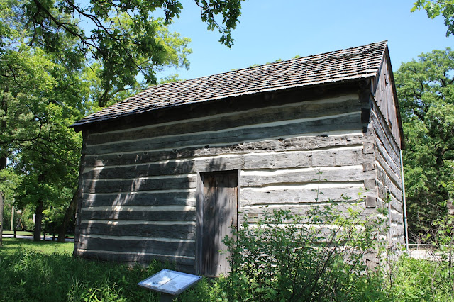 Constructed in 1837, the Caspar Ott house is the oldest loghouse in Lake County, Illinois