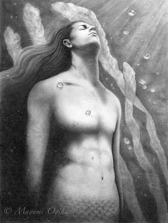 Dreaming on Aquamaring Tides by Enchanted Visions Artist Mayumi Ogihara