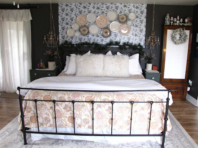 vintage glam master bedroom