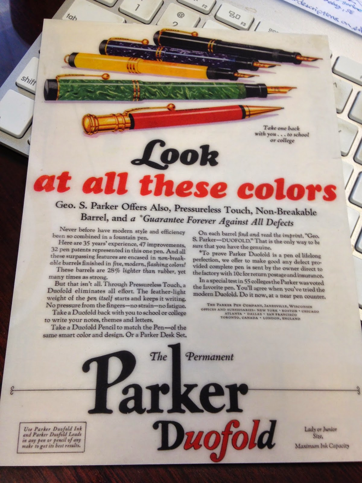 Parker Revives Historical Colors of Duofold
