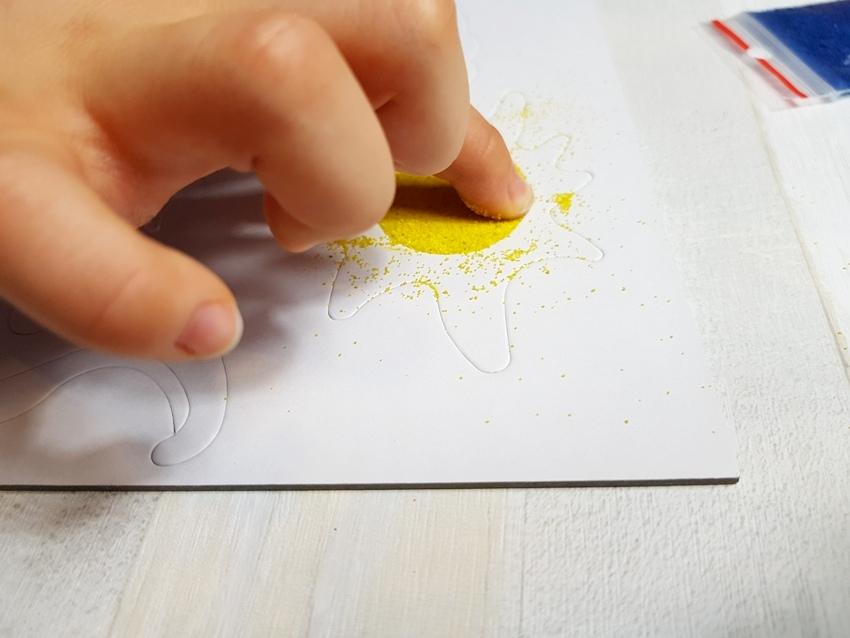 kreatywne, malowanki, piasek, naklejki