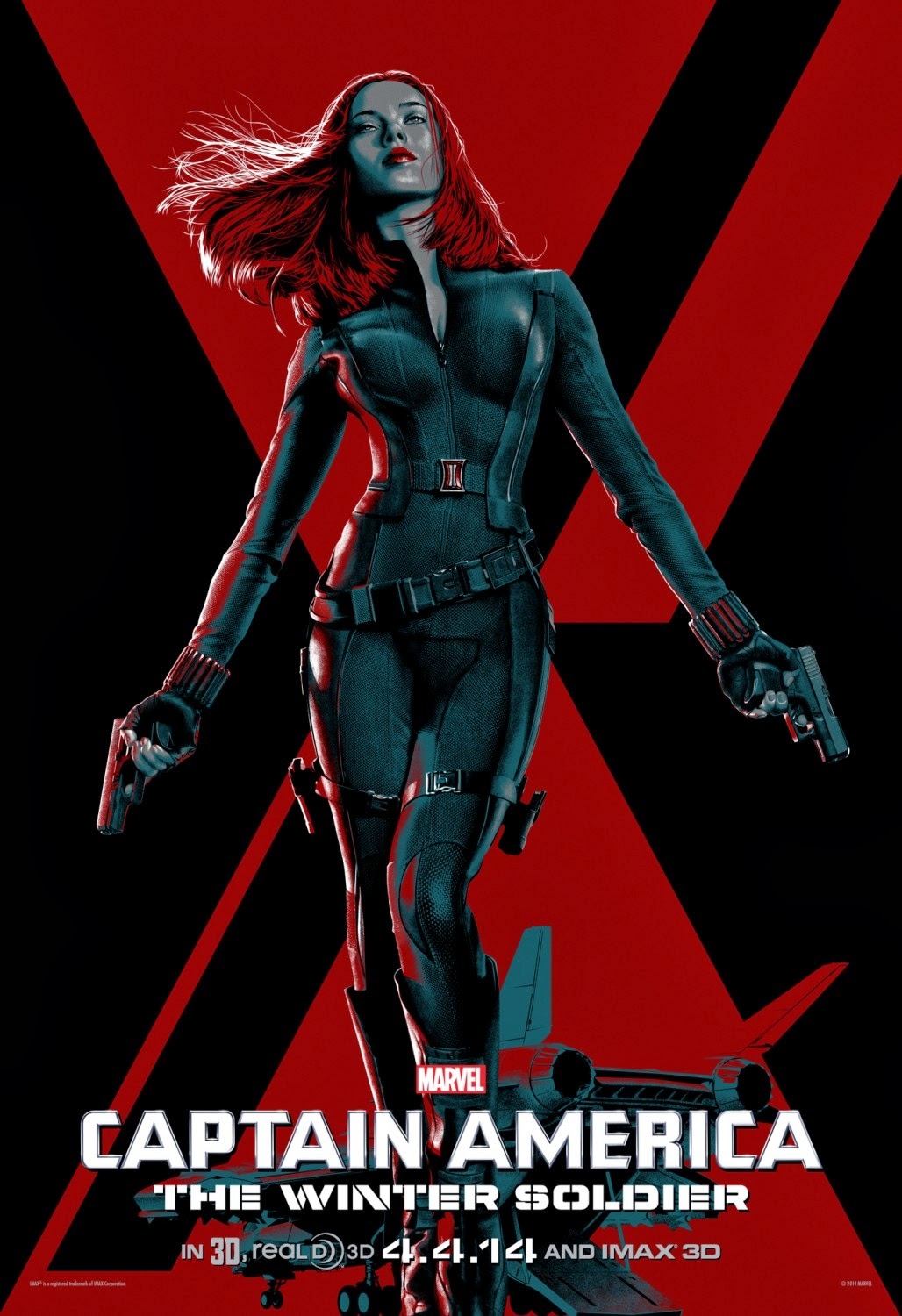 Captain America The Winter Soldier IMAX Character One Sheet Movie Poster Set - Scarlett Johansson as Black Widow