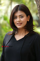 Actress Hebah Patel Stills in Black Mini Dress at Angel Movie Teaser Launch  0152.JPG