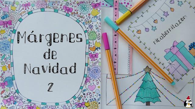 Ideas de márgenes y bordes para decorar tarjetas de Navidad