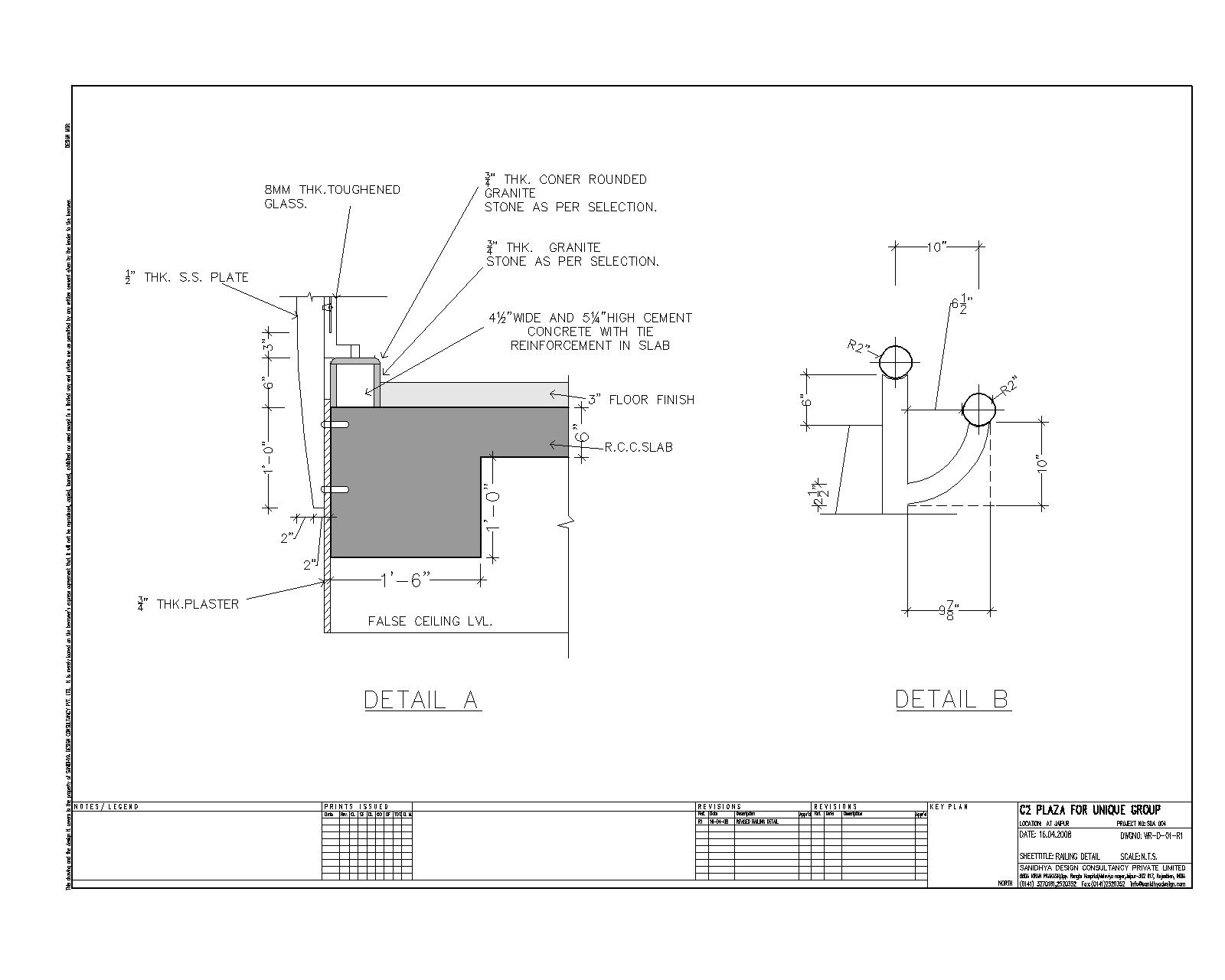Sanidhya Design: Railing details