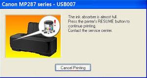 Download Resetter Canon Printer MP287
