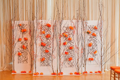 summer wedding orange color decoration