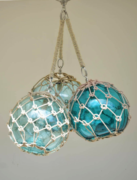 Glass Float Chandelier Lamp