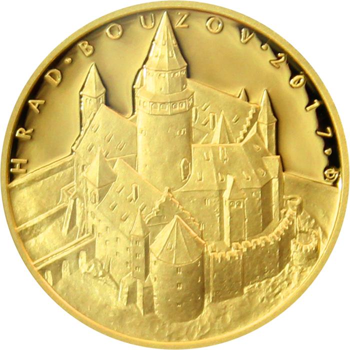 Moravská orlice  Zlatá mince s motivem moravského hradu Bouzov a3b6bff1da