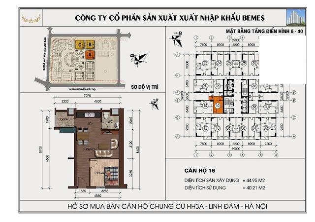 w. ... Bán căn hộ 45m2 chung cư hh3 linh đàm đủ nội thất giá 830tr
