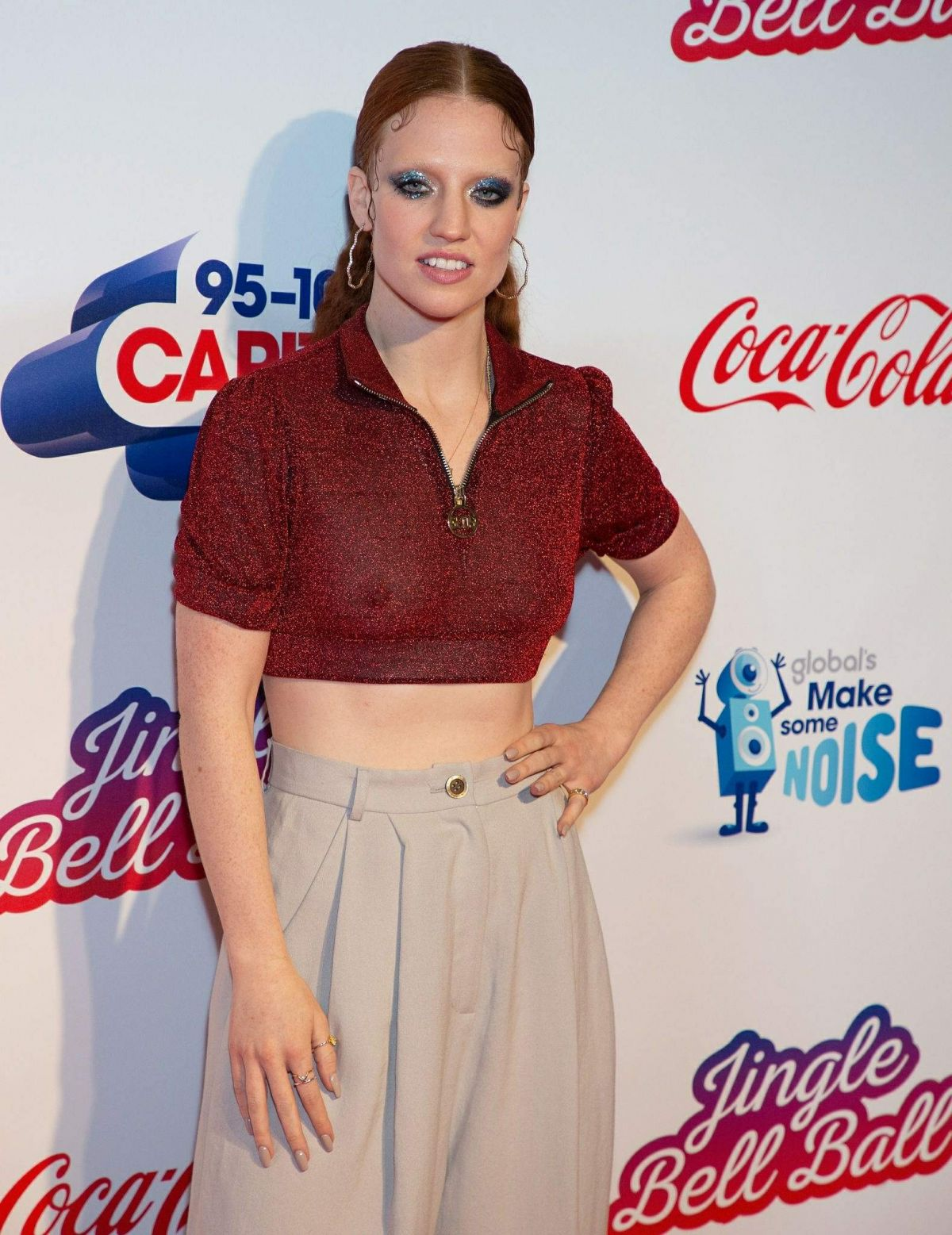 Jess Glynne suffers wardrobe malfunction as she accidentally flashes her nipples in sparkling crop top at Jingle Bell Ball