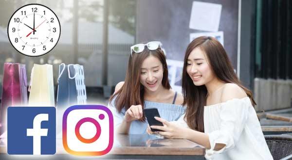 Gambar Waktu Yang Tepat Untuk Promosi di Facebook dan Instagram