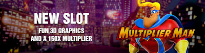 Multiplier Man slot game Café Casino