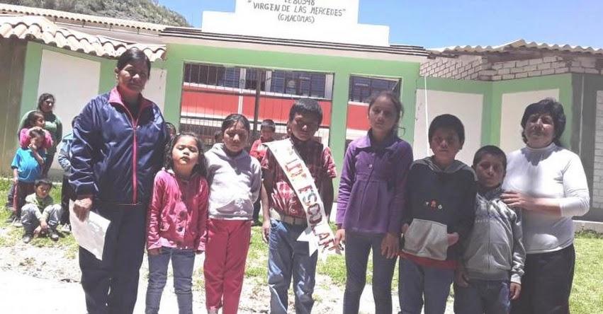 Institución Educativa N° 80548 de Chacomas eligió Alcalde Escolar 2020 - Santiago de Chuco - La Libertad